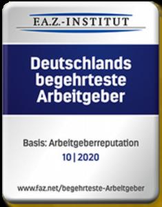FAZ Logo Deutschlands begehrteste Arbeitgeber